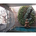 Green Plastic Courtyard Vertical Garden, For Industrial