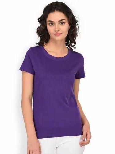 9804a36b6aae Women Cotton Round Neck T-Shirt, Size: S, M, L & XXL, Rs 200 /piece ...