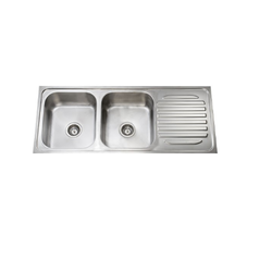 Double Bowl Single Drain Kitchen Sink