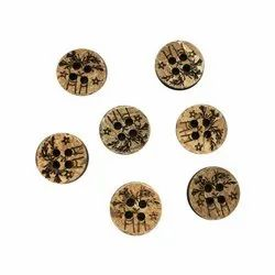Coconut Brown Polyester Buttons