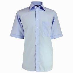 Cotton Plain Half Sleeve Mens Shirt, Handwash