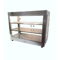 Stainless Steel And Glass Patties Display Counter