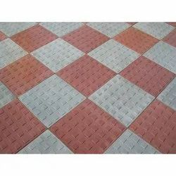 Mosaic Design Red and White Parking Floor Tile