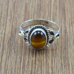 925 Sterling Silver Jewelry Tiger Eye Gemstone Handmade Ring Wr-5004