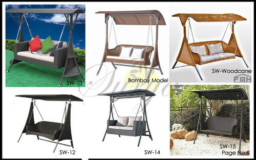 Double Seat Swing Wicker Porch Swing Manufacturer From New Delhi