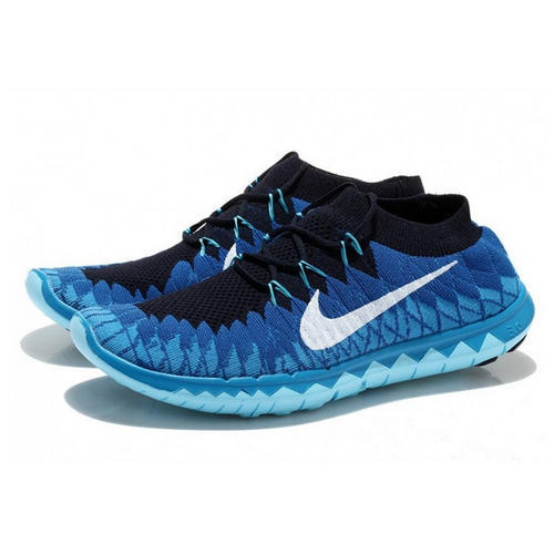 huge discount 2bc78 e354c Black and Blue Nike Free 3 Flyknit Royal Blue   White Mens Shoes, Size