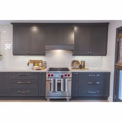 Grey Pvc Kitchen Cabinet At Rs 650 Square Feet Pvc Kitchen Cabinet Id 20558993848