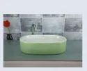 Green Ceramic Wash Basin
