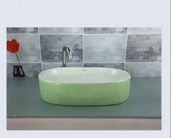 Koalar Green Ceramic Wash Basin, For Bathroom