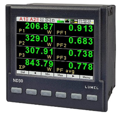 ND30 Lumel Ethernet And Recording 3 Phase Multifunction Meter Graphical Screen