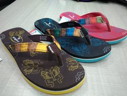 Ladies Soft Printed Casual Slipper, Size: 5-8