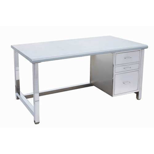 Merveilleux And Silver And Stainless Steel Stainless Steel Office Desk