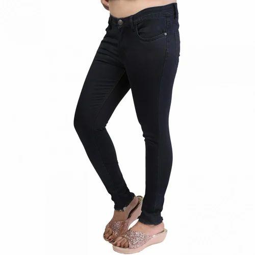 7d84e3df6 Denim Vistara Women's Slim Fit Black Colored Jeans, Size: 36, Rs 395 ...