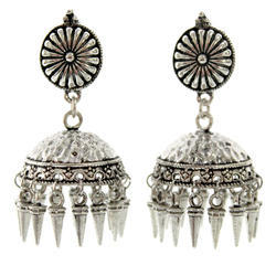 Silver Tone Polishing Earrings