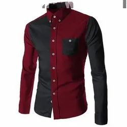 M to XXL Party Wear Full Sleeve Men Stylish Shirt, Packaging Type: Poly Bag