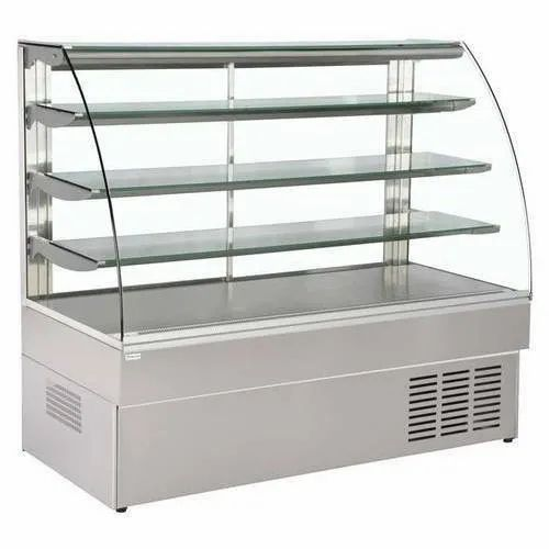 Stainless Steel Rectangular Display Counter