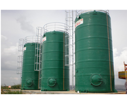 Green FRP Chemical Tank