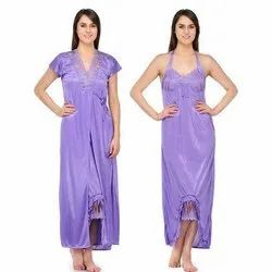 Ladies Two Piece Purple Nighty