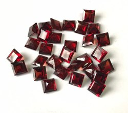 Red Garnet Faceted