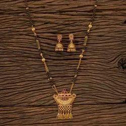 Matte Gold Plated Antique South Indian Mangalsutra Set 202486