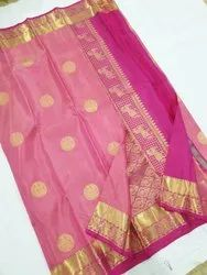 Exclusive Designer Kanchipuram Silk Handloom Party Wear Saree