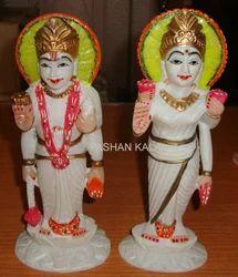 Marble Laxmi Vishnu Statues