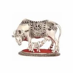 Metal Cow and Calf Statues