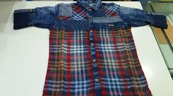 Denim Check Shirt