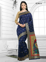 Blue Womens Silk Saree