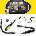 Snake Bit Drill Extender with Bonus Bits Screwdriver