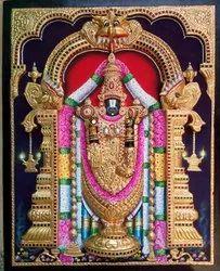 Embossed Tirupati Balaji Tanjore Painting