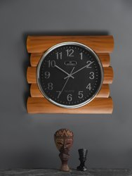 Analog Wood and Plastic 2295 Office Wall Clock, Size: 390x355 Mm