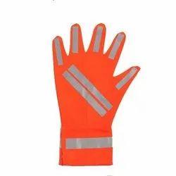 Orange Reflective Safety Gloves