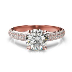 14K Women Diamond Engagement Ring
