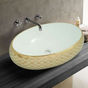 Golden Printed Table Top Wash Basin