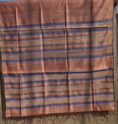 LAL10 Traditional Tussar Silk Sarees, Packaging Type: Box
