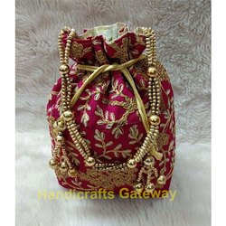 Zari Embroidery Potli Bag