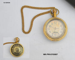 Maritime Clocks Imported From Abroad Nautical Brass Roman Dial Pocket Watch Necklace~collectible Clock With Chain Customers First