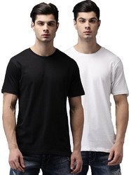 Cotton Round Neck Half Sleeve T-Shirt For Men's, Size: S to XL