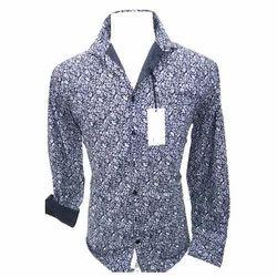 Cotton/Linen Men's Fancy Shirt