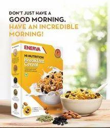 Wheat Enerva Breakfast Cereal, Packaging Type: Box, Flakes