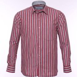 Linning Maroon Mens Modern Shirt