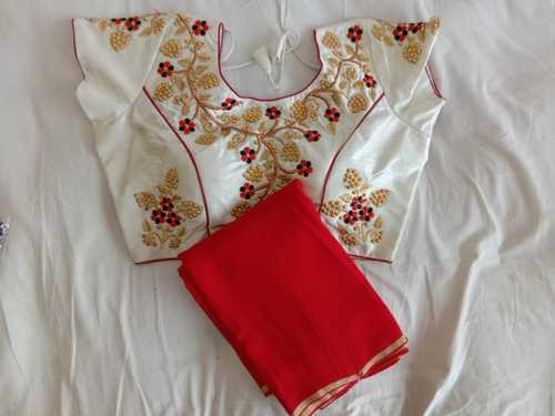 6736eb790217a4 Silk Embroidered Pearl Readymade Blouse, Rs 300 /piece, Pearl ...