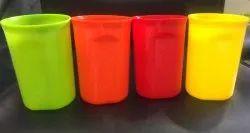 Multicolor Plastic Glass