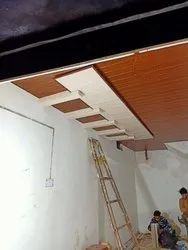 Exposed Grid Film Coated PVC Ceiling Panel, For Residential & Commercial
