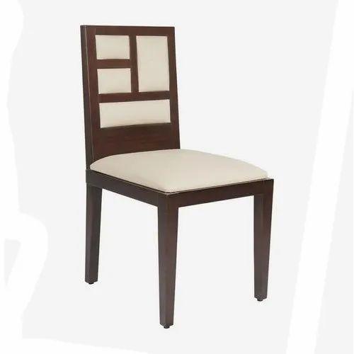 Polished Teak Wood Dining Chair