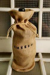 Brown Rope Handle Jute Bottle Bag, Capacity: 2 Kg