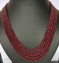 Natural Spinel Necklace with Adjustable string -280 carat -5 line