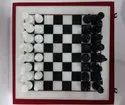 Black White Marble Chess Set