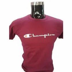 Plain Round Neck Mens Half Sleeve Cotton T-Shirt